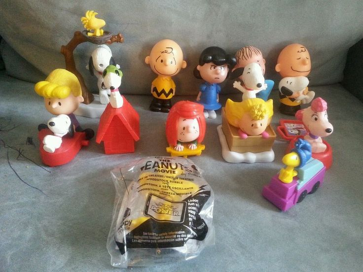 Snoopy Charlie Brown Peanut Movie 2015 McDonald Happy Meal Completed Set of 12  | eBay