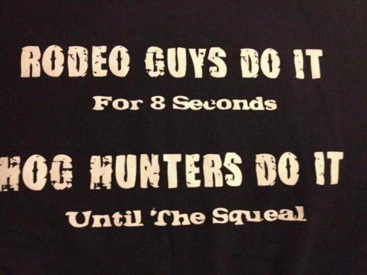 My man's a hog hunter ;)