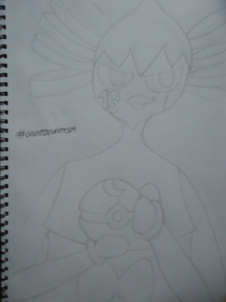 I know its horrible and that i really don't know how to draw but i decided to make a pokemon sketch daily for the next two weeks. In a #countdowntoSM. There are 13 days until SM to celebrate the lucky number my Gothitelle Evilina.