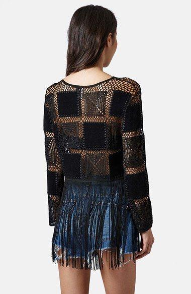 Topshop Fringed Crochet Top | Nordstrom