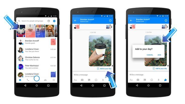 Carousel des Messenger Days de Facebook Messenger