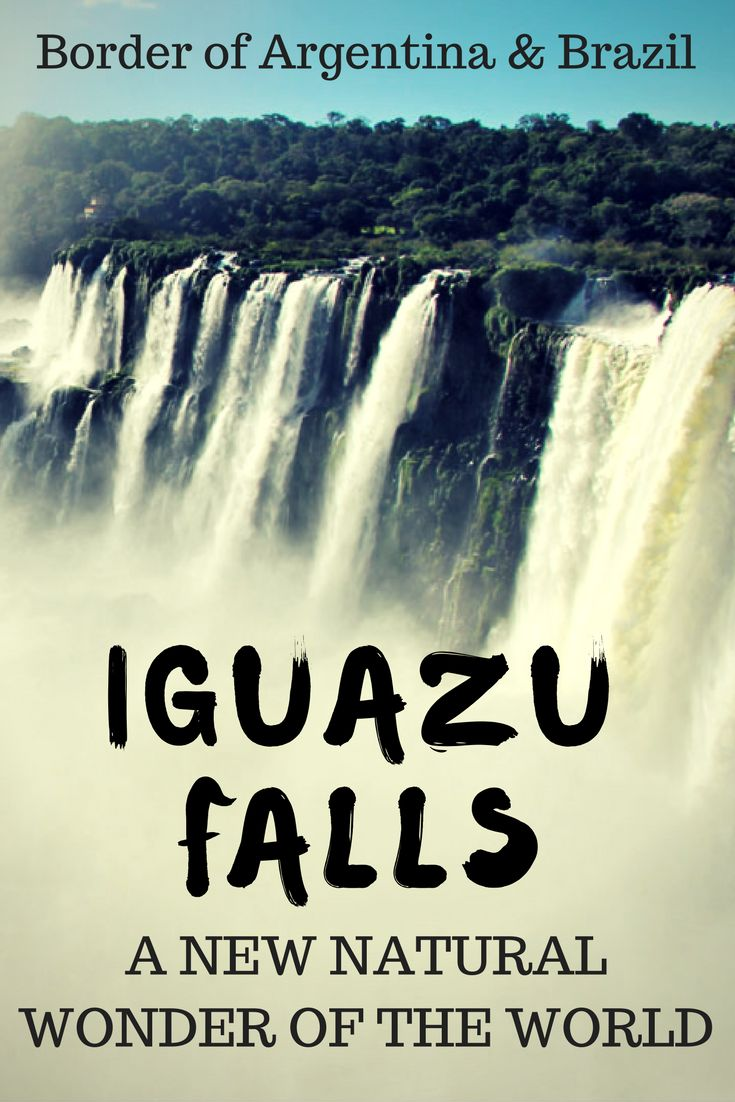 Discover Iguazu Falls on the border of Argentina and Brazil. Don't miss this off your list of. places to visit in South America. It is a must see in South America. #southamerica #travelargentina #travelbrazil