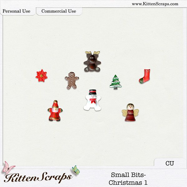 Small Bits-Christmas 1 {CU} Digital Scrapbooking Product