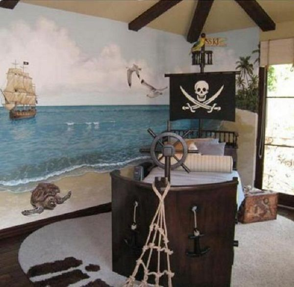 Kids Bedroom Ideas Brings Out Theme Of Pirate Ship Small Kids Bedroom Ideas Housefashions