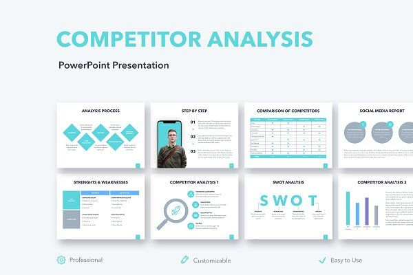 Competitor Analysis Powerpoint Creative Powerpoint Templates Creative Market Keynote Template Competitor Analysis Marketing Strategy Template