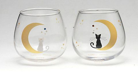 Swaying Glass Pair 'Luna & Artemis': 5,000 yen. Made of glass, has rhinestone decorations.