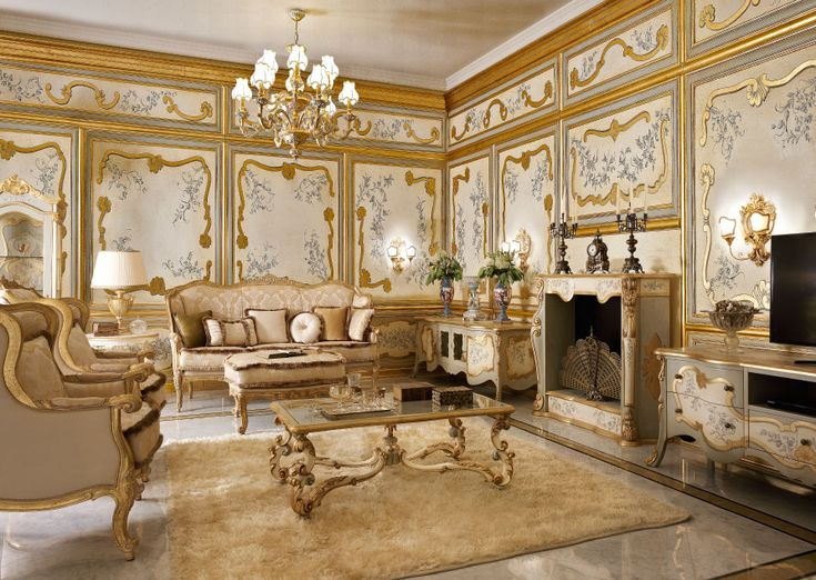 Italian Classic Luxury Wooden Living Room Furniture. Part 96