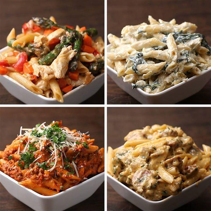 Cuatro maneras deliciosas de preparar pasta