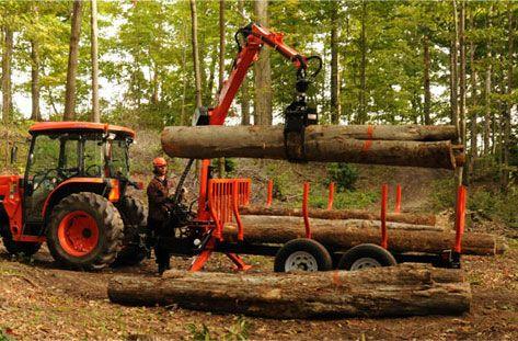 Wallenstein Timber Talon LX115 Log Grapples / LT60 Trailers - Wallenstein Outdoor Power Equipment Made in Canada