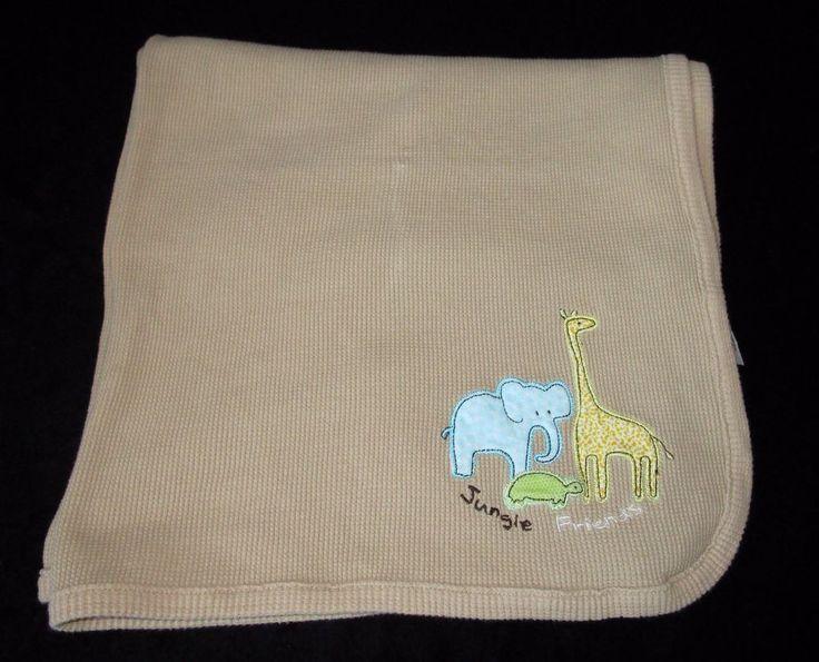 Koala Baby Beige Tan Jungle Friends Elephant Giraffe Thermal Baby Blanket Turtle…