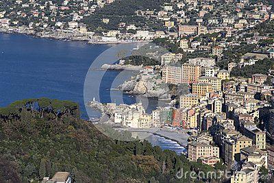 View from the coast of Camogli Il mio nuovo lavoro su dreamstime