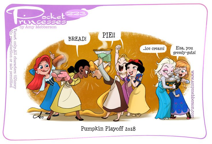 Pocket Princesses 223: Pumpkin Playoffs Please reblog, don't repost, edit or remove captions Facebook - Instagram