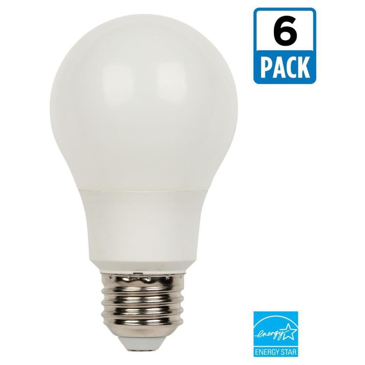 Westinghouse 60W Equivalent Bright White Omni A19 Dimmable LED Light Bulb (6-Pack)