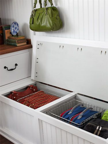 Neat and tidy storage idea from Woman's Day