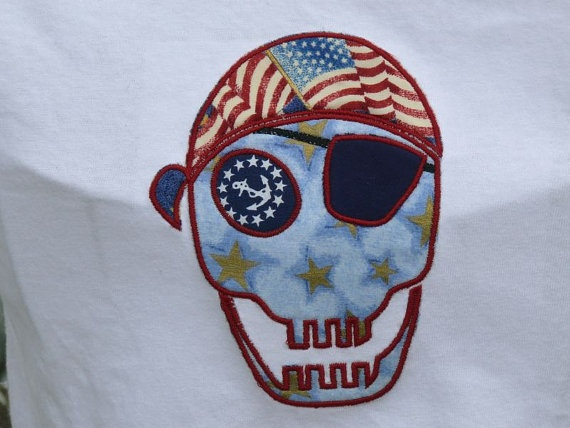 Personalized Patriotic Pirate Skull Tshirt by stitchcottage, $18.00: Personalized Patriotic, Favorite Things, Pirate Skull, Personalized Sample, Sample Shirt, Skull Tshirt, Patriotic Pirate, Tshirt Personalized