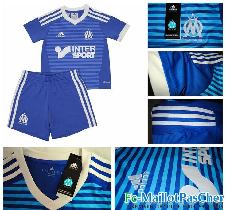 Nouveau Maillot foot Olympique de Marseille OM Bleu Enfant Third 15 2016 2017