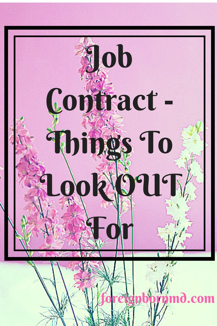 employment contract, job contract, things to check before signing employment contract, work contract template, legal employment contract,