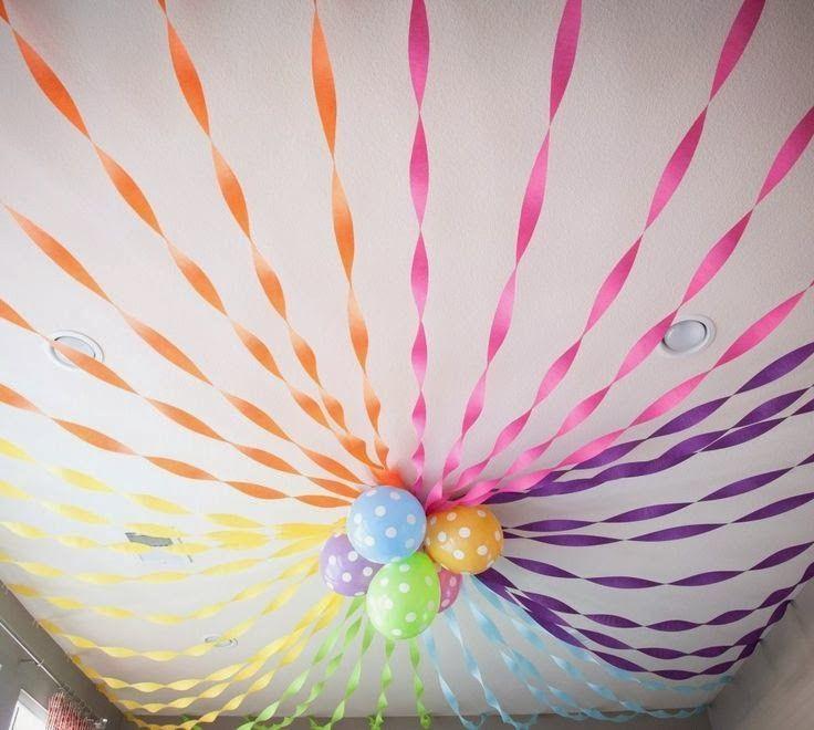 M s de 1000 ideas sobre decoraciones de papel crep en - Decoracion con cintas de papel ...