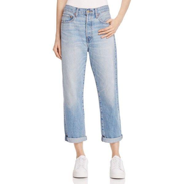 Elizabeth and James Boyfriend Jeans in Vintage Blue ($260) ❤ liked on Polyvore featuring jeans, vintage blue, slouch jeans, elizabeth and james. jeans, slouchy jeans, boyfriend jeans and vintage jeans