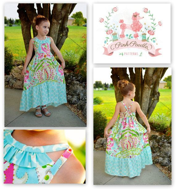 LOVE THIS PATTERN ♡♡♡♡♡  PDF Pattern Girls Sewing Pattern The Sophia Maxi by pinkpoodlebows, $6.00