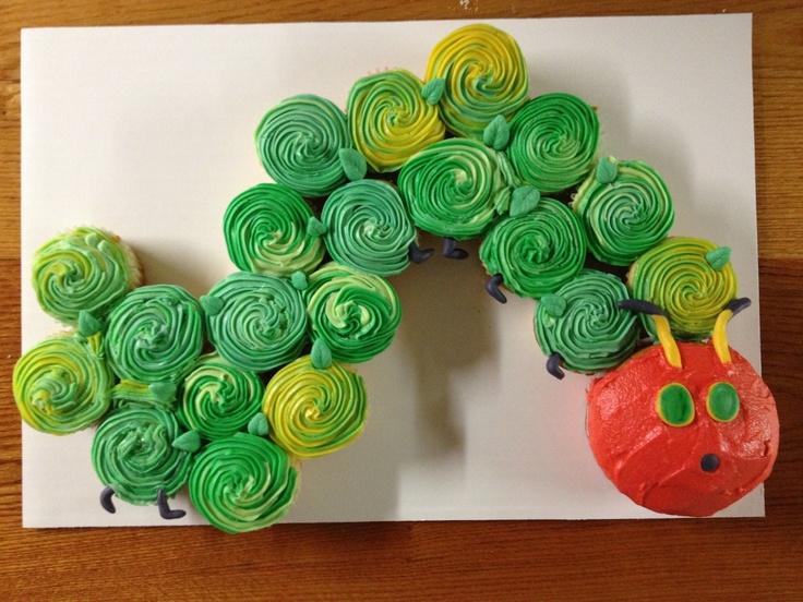 The very hungry caterpillar cupcake train