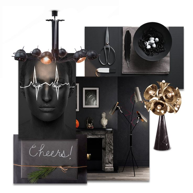 The Ultimate Guide for Your Halloween Home Decor - Halloween is almost here, so in case you need some last minutes interior design tips, you have to read this article  #delightfull #uniquelamps #halloween #halloween2017  #halloweeninspiration #halloweendecor #halloweencostume #blackdecor #blackwork #black #homedecor #interiordesign #moodboard #halloweenmoodboard #halloweenmood