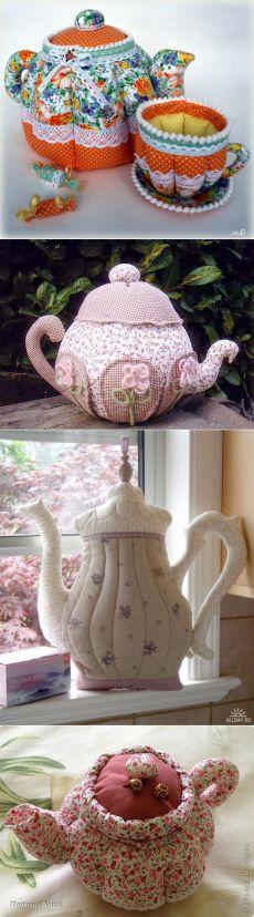 Текстильные чайные наборы. Идеи, схемы + МК