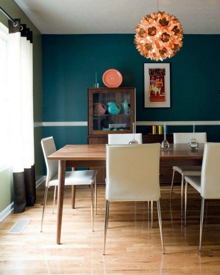 Die wunderschöne und effektvolle Wandfarbe Petrol! Wandgestaltung