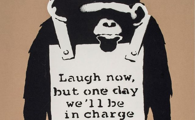 Banksy , Laugh Now, 2002
