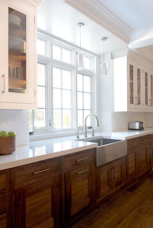 Kitchen Cabinets Light On Top And Dark On Bottom Pictures best 25+ walnut kitchen cabinets ideas on pinterest | white