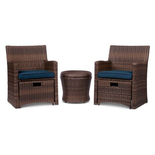Halsted 5-Piece Wicker Small Space Patio Furniture Set - Threshold™ : TargetOn sale $299 regular $399! Seating Piece 1 Overall Dimensions: 33.5 inches H x 24.5 inches W x 23.5 inches D Seating Piece 1 Seat Dimensions: 15.75 inches H x 20 inches W x 20 inches D