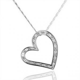 Sensitive Heart 18 Karat Gold Plated Necklace