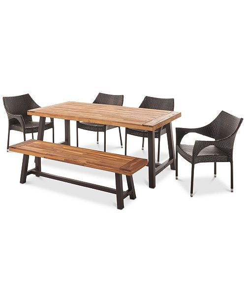 petra 6 pc outdoor dining set quick ship dream home outdoors rh pinterest com