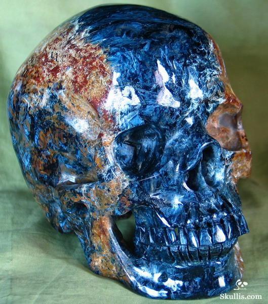 Blue Pietersite Carved Crystal Skull