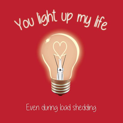 Light Life Love Card for Kinky Rhino Greeting Cards in South Africa #greetingcard #southafricancard #southafrica #card #lovecard #eskom