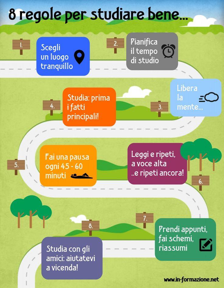 8 regole per studiare bene – infografica #backtoschool
