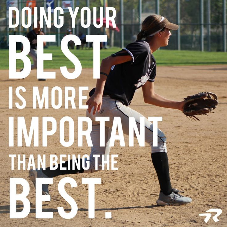 Focus on simply doing your best and the rest will fall into place. #softballstrong