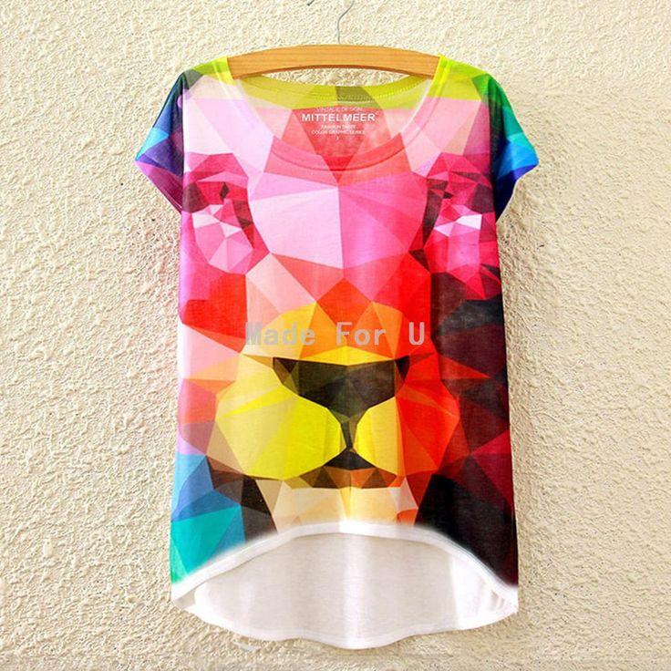 2016 женщины с 3D вселенная галактика принт футболка Большой размер Harajuku с…