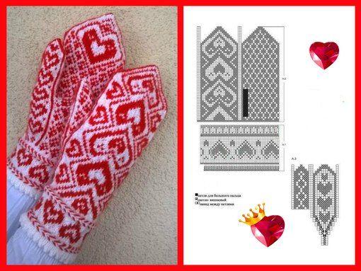 Heart mittens <3