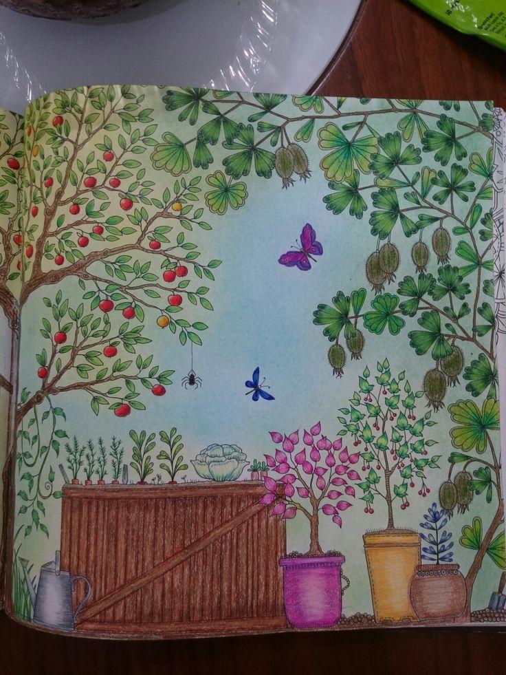 Johanna Basford Secret Garden Esrarengiz bahçe boyama kitabı klube kabak üzüm prismacolor Faber Castell kuru pastel second page