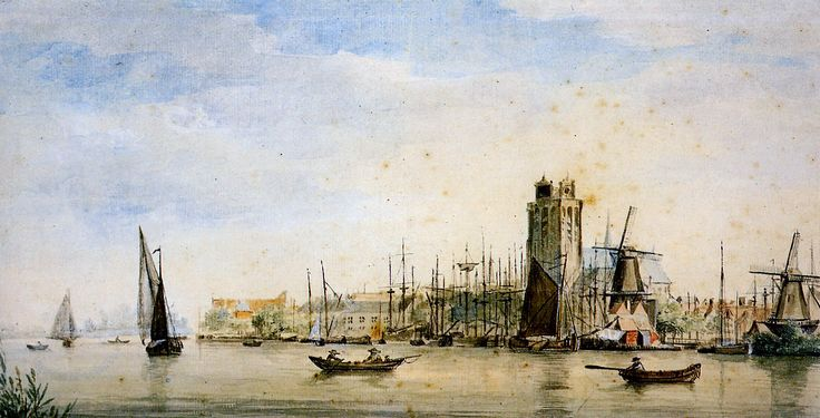 ۩۩ Painting the Town ۩۩ city, town, village & house art - Aert Schouman (1710-1792)