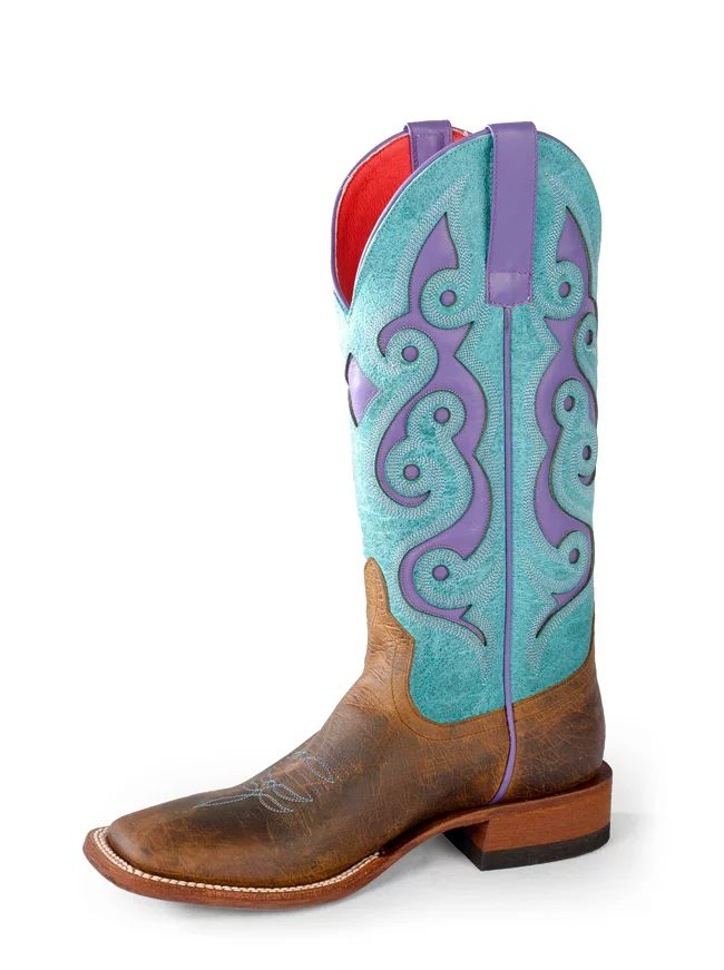 Macie Bean Turquoise and Purple Cowboy Boots
