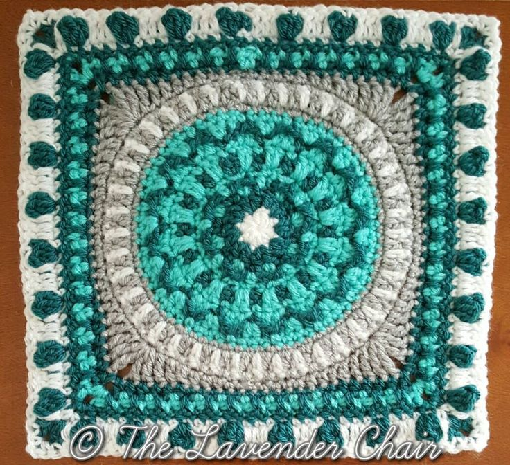 This is square #7 of the Mandala Blanket CAL Add to your Favorites/Queue on Ravelry Materials: Lion Brands Vanna's Choice (Worsted Weight Yarn) I 5.50mm Crochet Hook Yarn Needle Difficulty: Experienced Gauge: 4Hdc = Approx 1 inch Size: 12″ x 12″ Stitches: CH: Chain- Yarn over pull through one loop. …