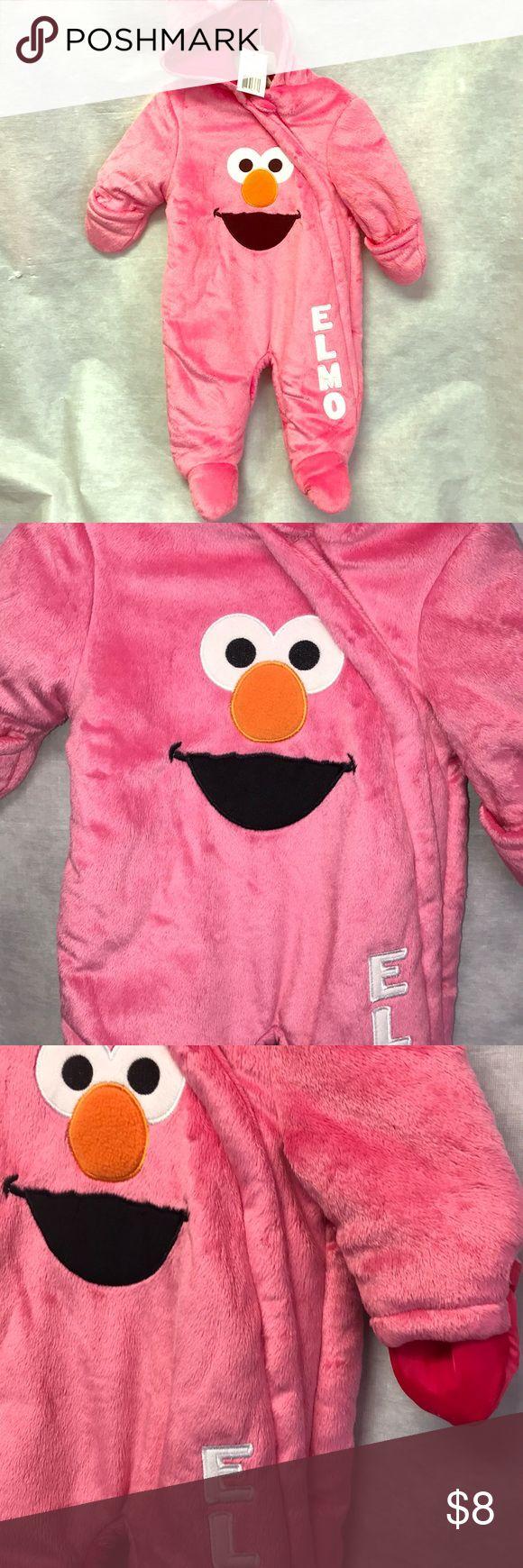 Infant snow suit Pink Elmo snow suit. Good condition. Zip down. Good. Hands fold in for warmth. Sesame Street Jackets & Coats #infantsnowsuit