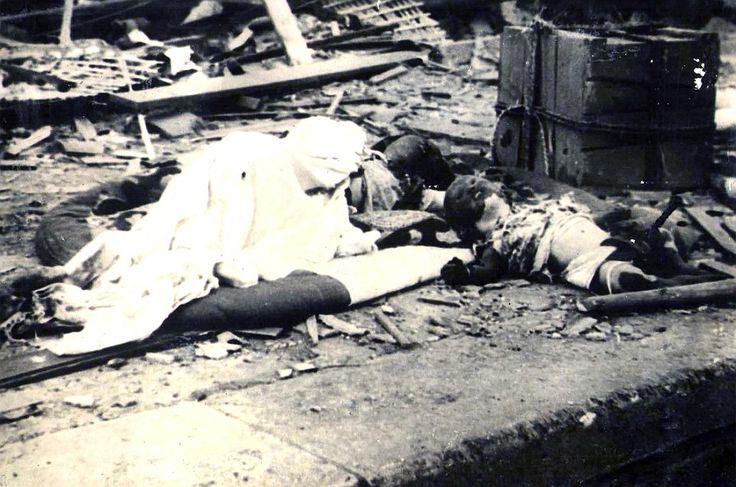Morrer: As fotografias do assombro são pensados para ter sido tomada logo após o ataque, há 70 anos hoje