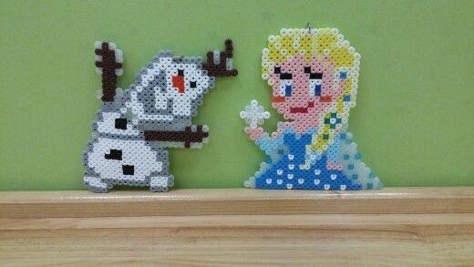 Olaf & Elsa perler beads