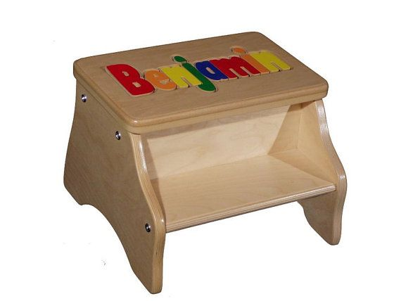 Two Step Stool with child's name