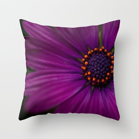 Love this color!!!!!  Decorative Flower Pillow Cover Purple Pillow Nature Home Decor Pillow Decoration 16 x 16