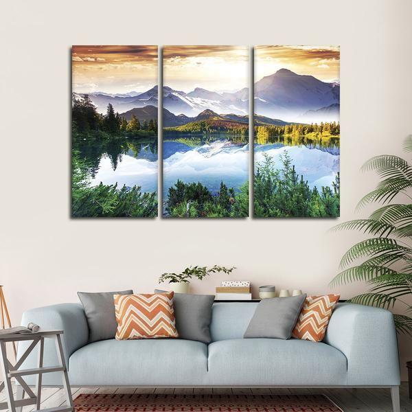 Beautiful Natural Scenery Multi Panel Canvas Wall Art In 2021 Canvas Wall Art Wall Canvas Multiple Canvas Paintings