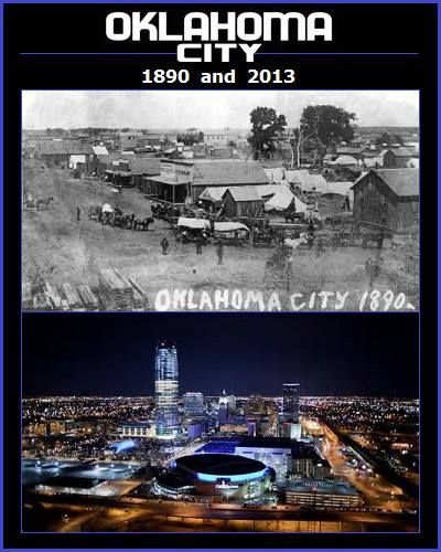 Tracy Duke S Picture Comparing Oklahoma City In 1890 And 2013 Oklahoma City Pinterest